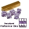19mm A Grade Serialized Set of Casino Dice - Purple